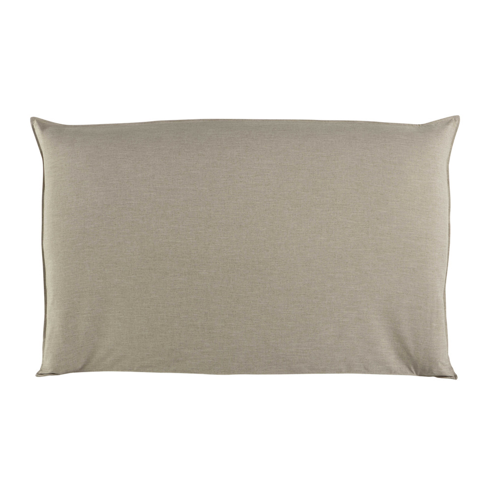 Housse de tête de lit 180 beige Soft (photo)