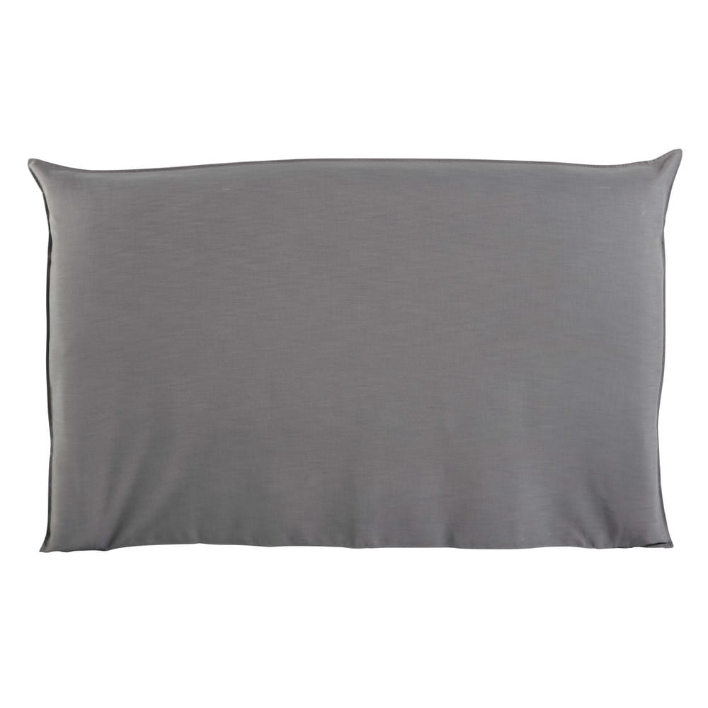 Housse de tête de lit 180 gris perle Soft (photo)