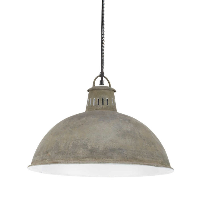 Industrial-Style Aged-Effect Metal Pendant D48