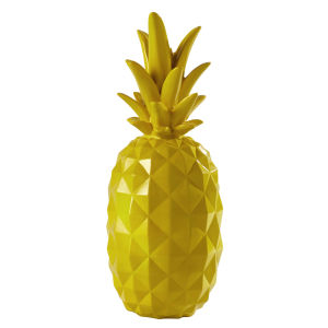 JANEIRO resin pineapple decoration in yellow H 57cm