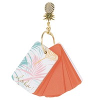 Keyring with Pineapple Notepad