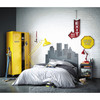kleiderschrank auf rollen aus metall b 85 cm gelb loft maisons du monde. Black Bedroom Furniture Sets. Home Design Ideas
