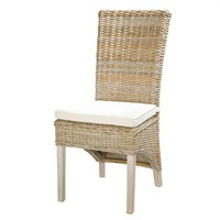 Kubu Rattan and Solid Mahogany Chair Key West
