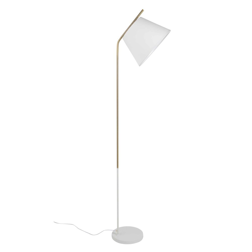 Lampadaire en métal blanc H160 (photo)