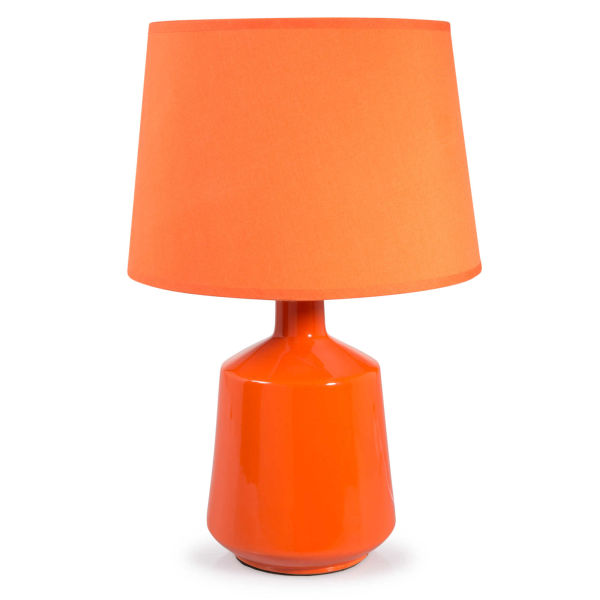 Lampe en céramique orange H 39 cm MADDY