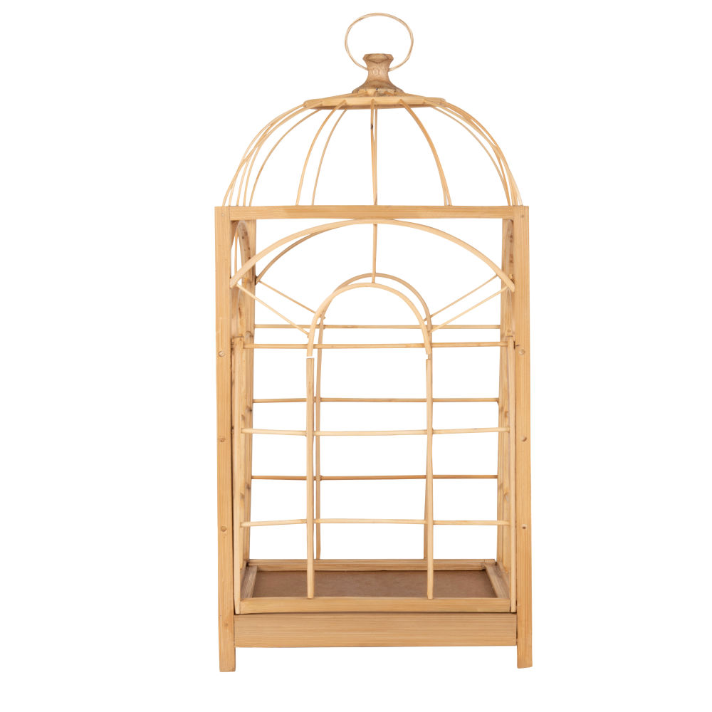 Lanterne cage en bambou (photo)