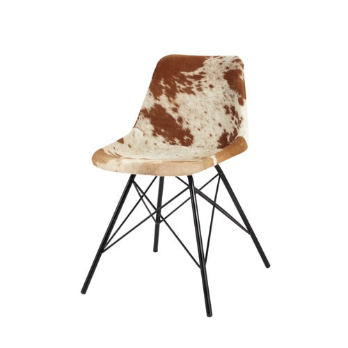 Leather and Metal Chair