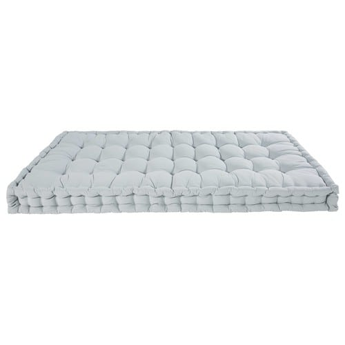 Light blue cotton mattress 90 x 190 cm