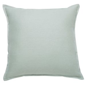 Light Green Washed Linen Cushion 45x45