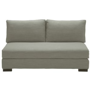 Light Grey 2-Seater Modular Sofa Bench