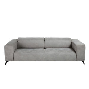 Brown 3 Seater Microsuede Sofa With Headrests; Light Grey 3 Seater Microsuede  Sofa With Headrests ...