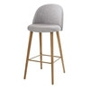 Light Grey Marl and Ash Vintage Bar Chair - Mauricette