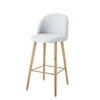Light Grey Marl Fabric Vintage Bar Chair - Mauricette