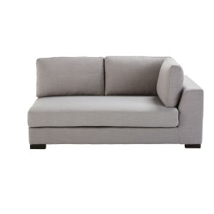Light Grey Modular Sofa Bed with Right Armrest