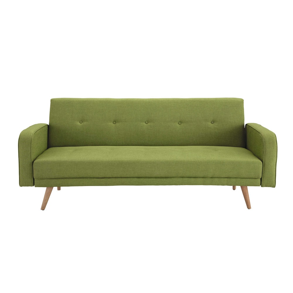 Lime green 3-seater clic clac sofa bed | Maisons du Monde