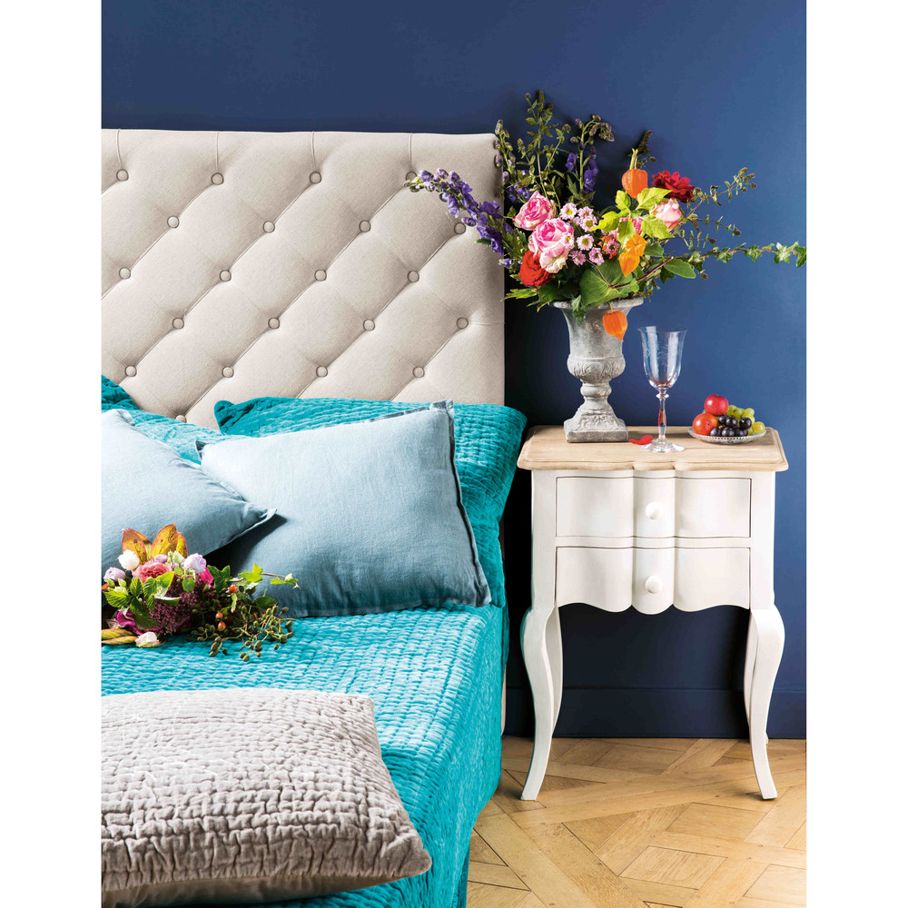 tufted caravana bl headboard upholstered teal blue fabric product furniture