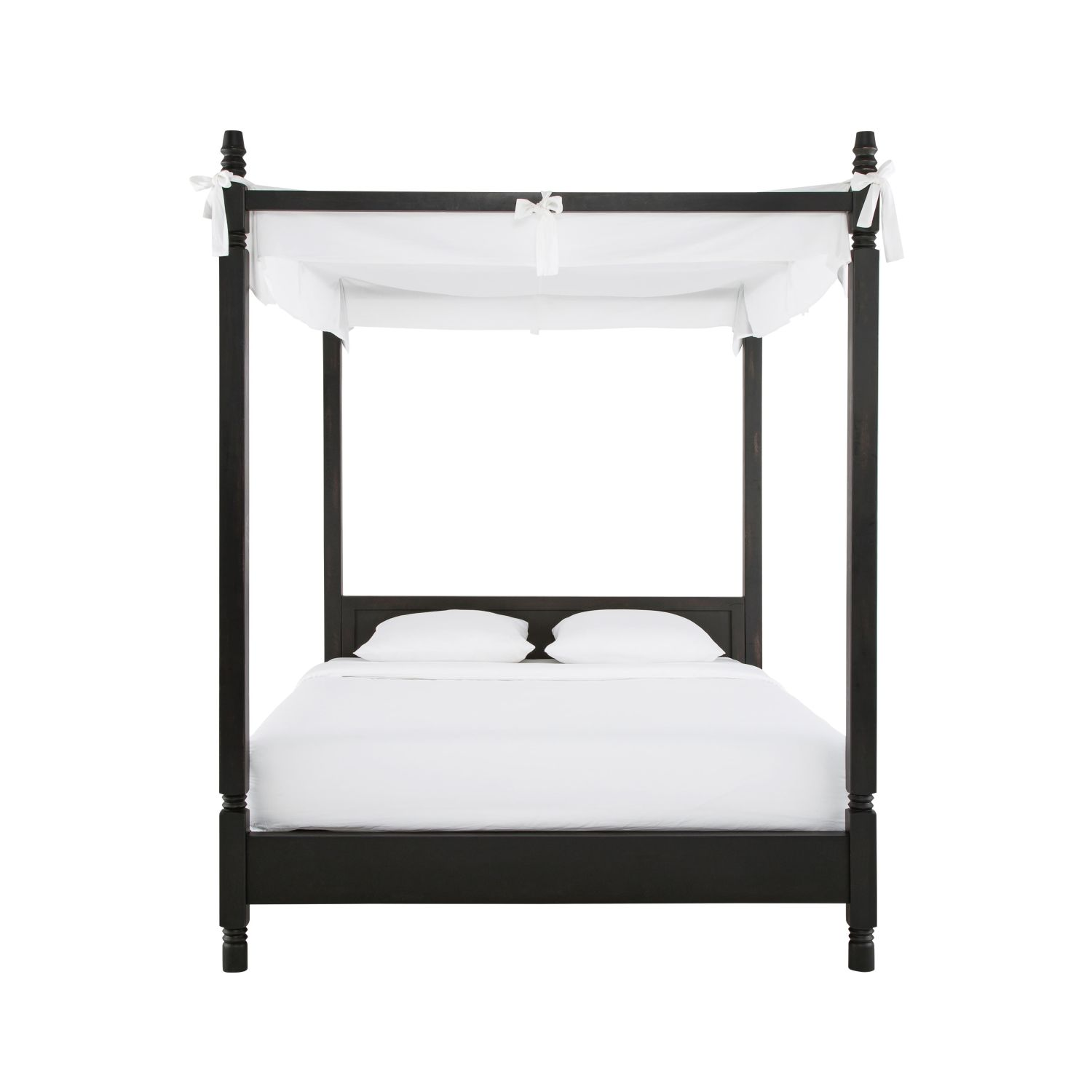 lit baldaquin 160x200 en manguier massif maisons du monde. Black Bedroom Furniture Sets. Home Design Ideas