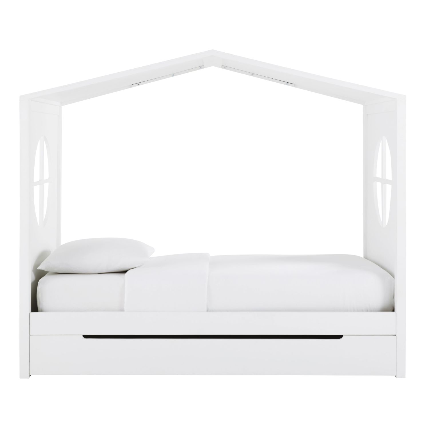 lit cabane enfant 90x190 blanc maisons du monde. Black Bedroom Furniture Sets. Home Design Ideas