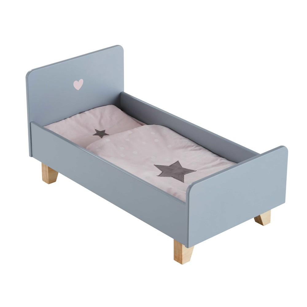 Lit de poupée gris CATS (photo)
