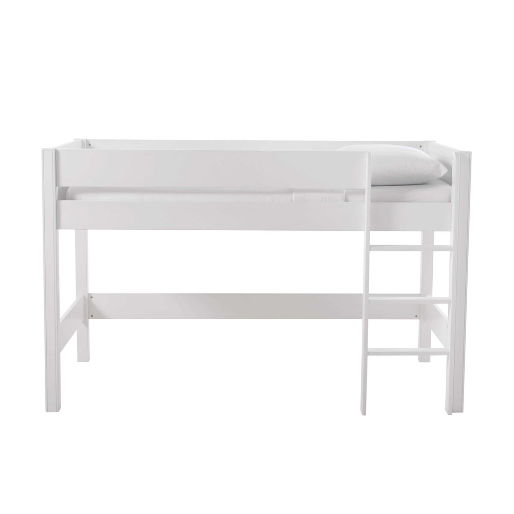 Lit mezzanine enfant 90x190 blanc Tonic (photo)
