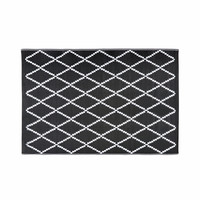 Black and White Patterned Outdoor Rug 180x270