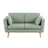 Lovat Green Vintage 2-Seater Sofa - Timeo