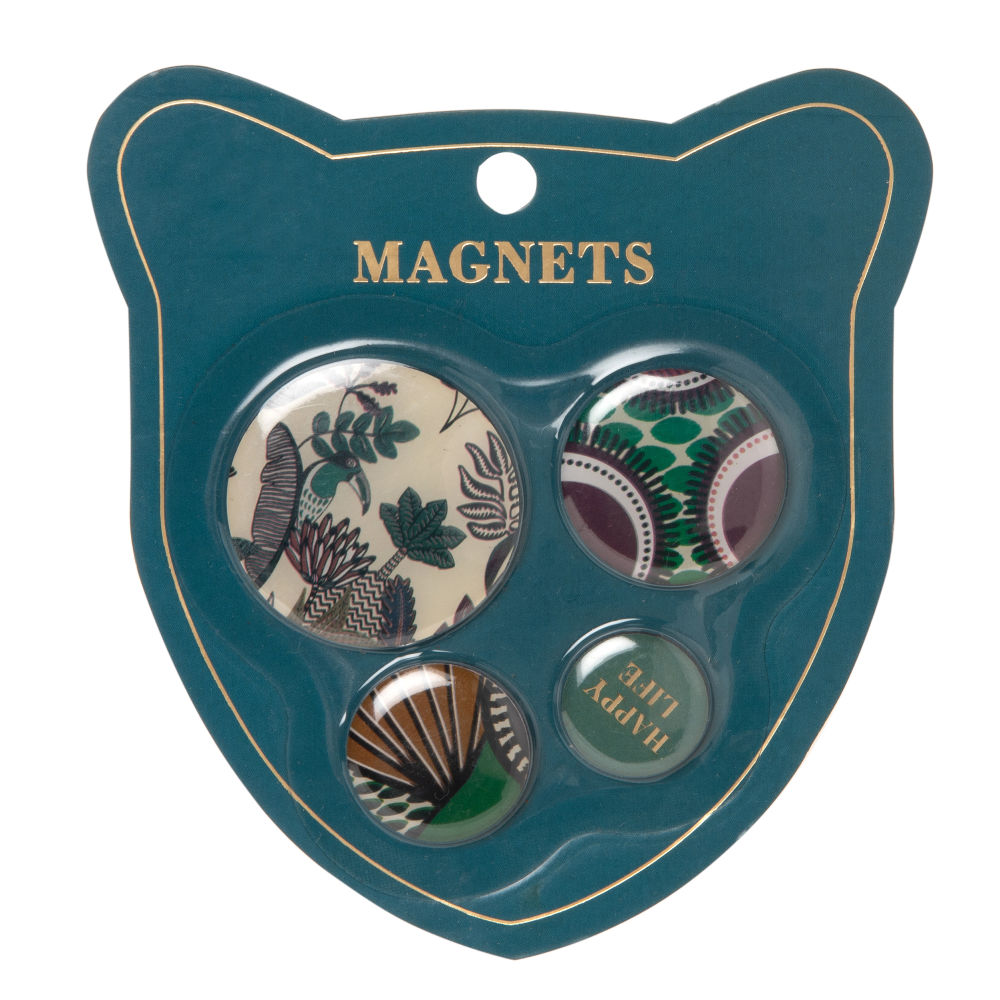 Magnets ronds multicolores (x3) (photo)