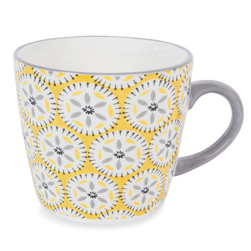 malaga earthenware mug yellow maisons du monde. Black Bedroom Furniture Sets. Home Design Ideas