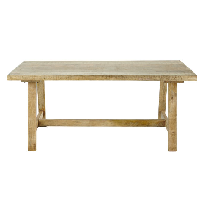 mango wood 68 seater dining table l180 maisons du monde