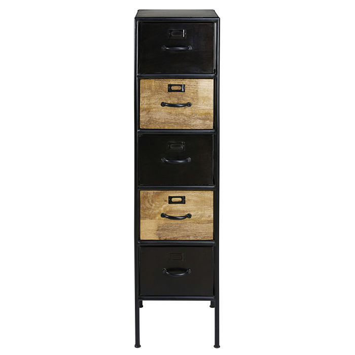 ... Black Metal 5 Drawer Storage Cabinet. Description; Characteristics;  Availability In Store. Houston