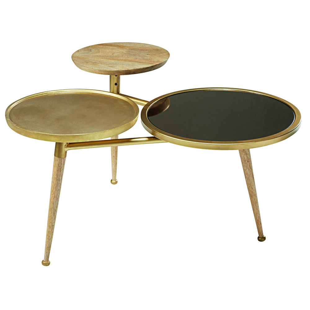 Mango wood coffee table shop for cheap tables and save online Gold metal coffee table