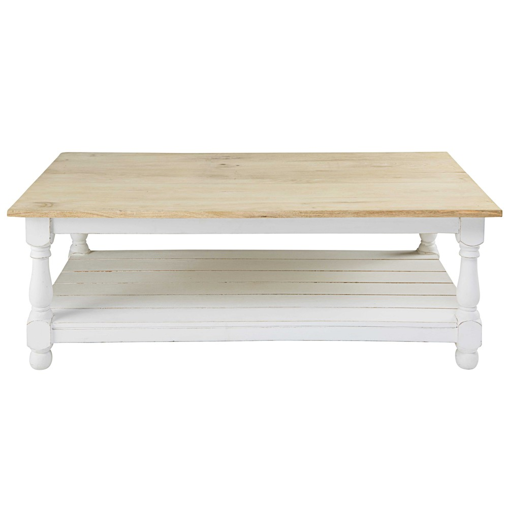 Mango wood coffee table maisons du monde geotapseo Gallery