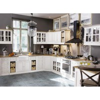 Mango Wood Kitchen Base Unit in Ivory W80 Eleonore kitchen | Maisons ...