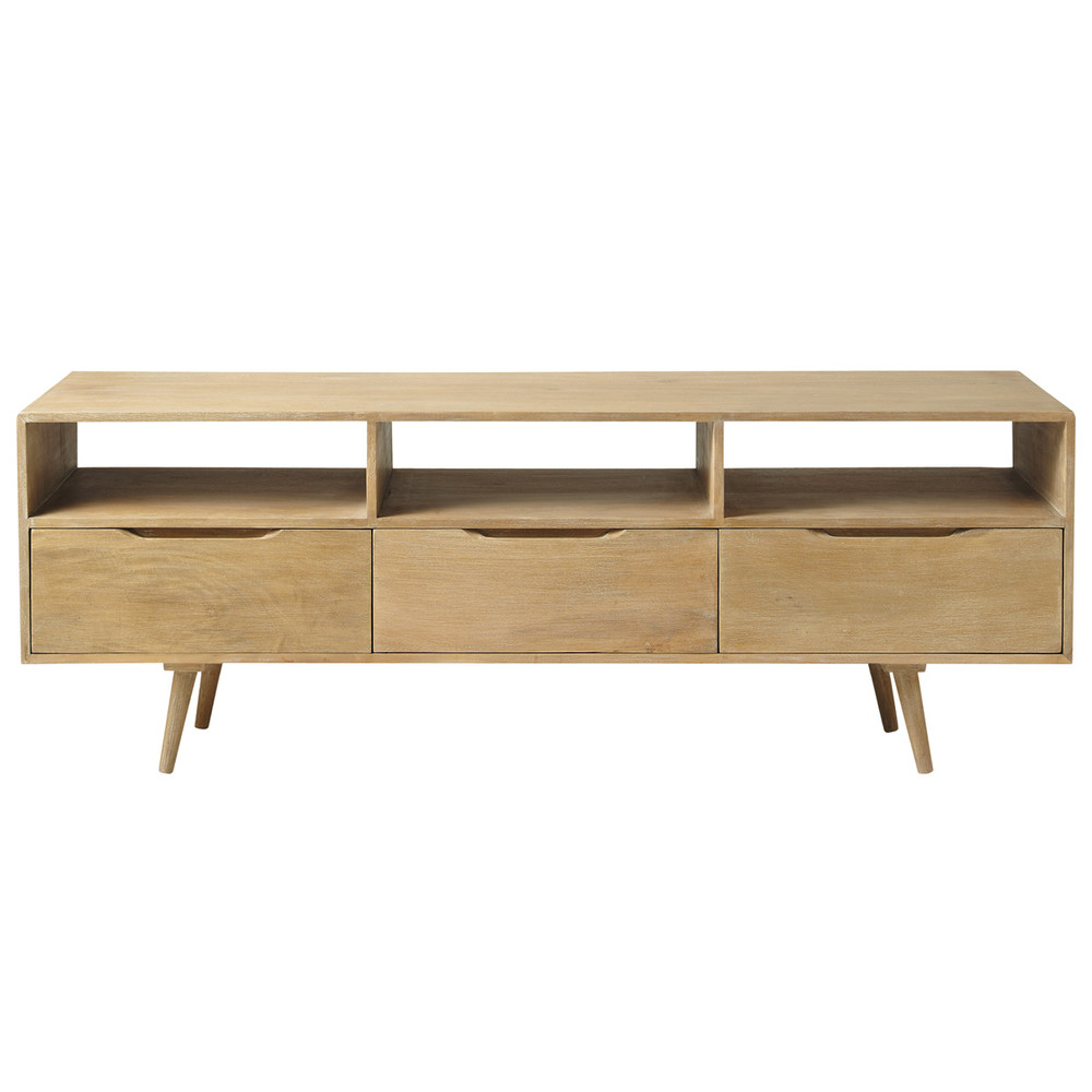Mango wood vintage tv unit trocadero maisons du monde