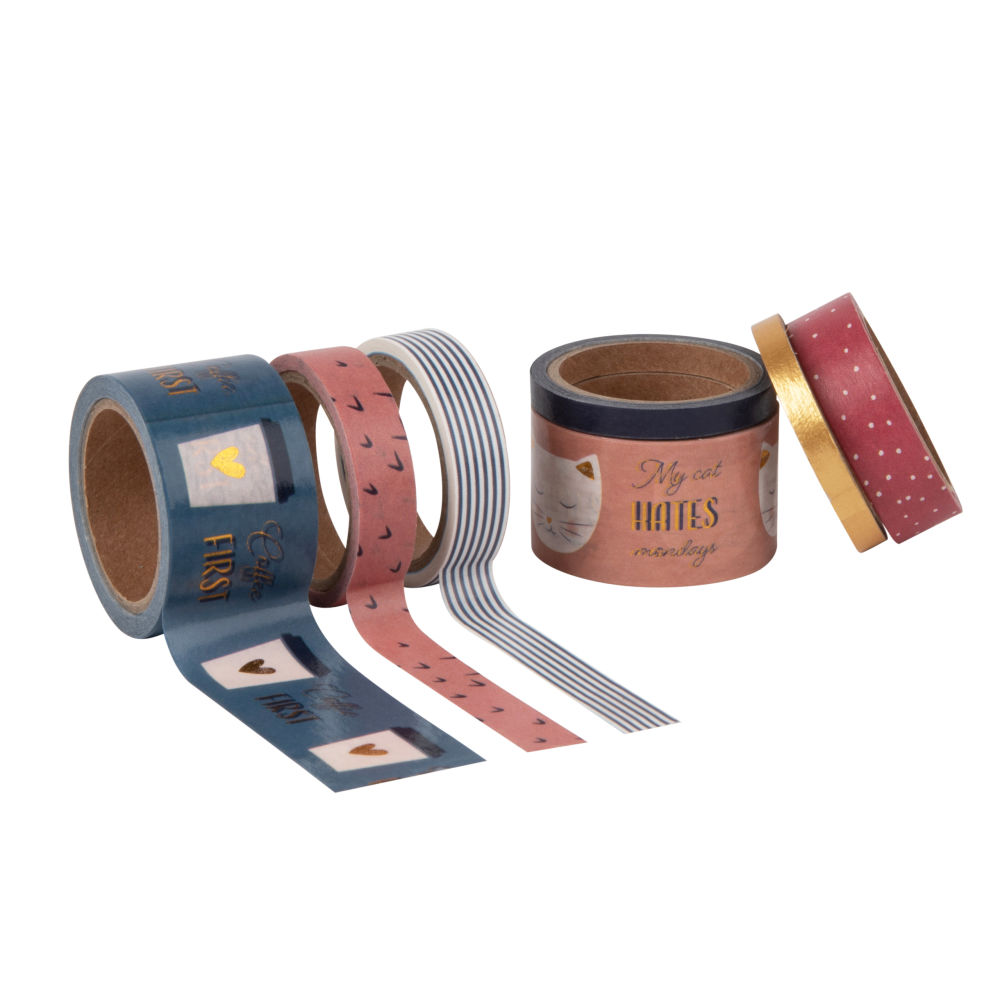 Masking tapes multicolores (x7) (photo)