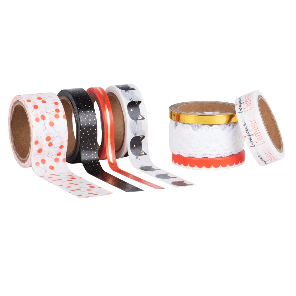 Masking tapes multicolores (x8) (photo)