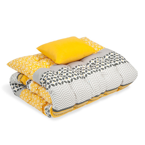 matelas bain de soleil en coton jaune gris 60 x 170 cm sunny maisons du monde. Black Bedroom Furniture Sets. Home Design Ideas