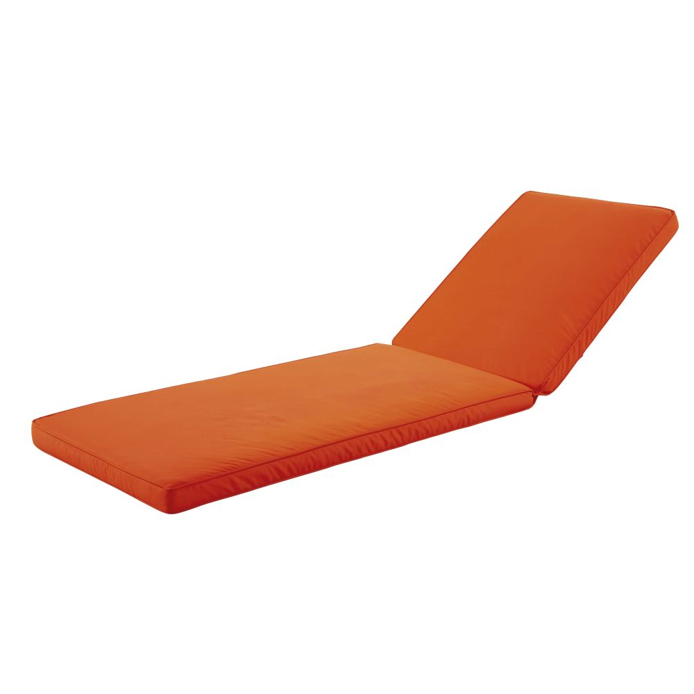 Matelas bain de soleil orange (photo)