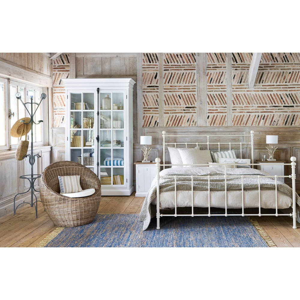 Metal 160 X 200cm King Size Bed In White Maisons Du Monde