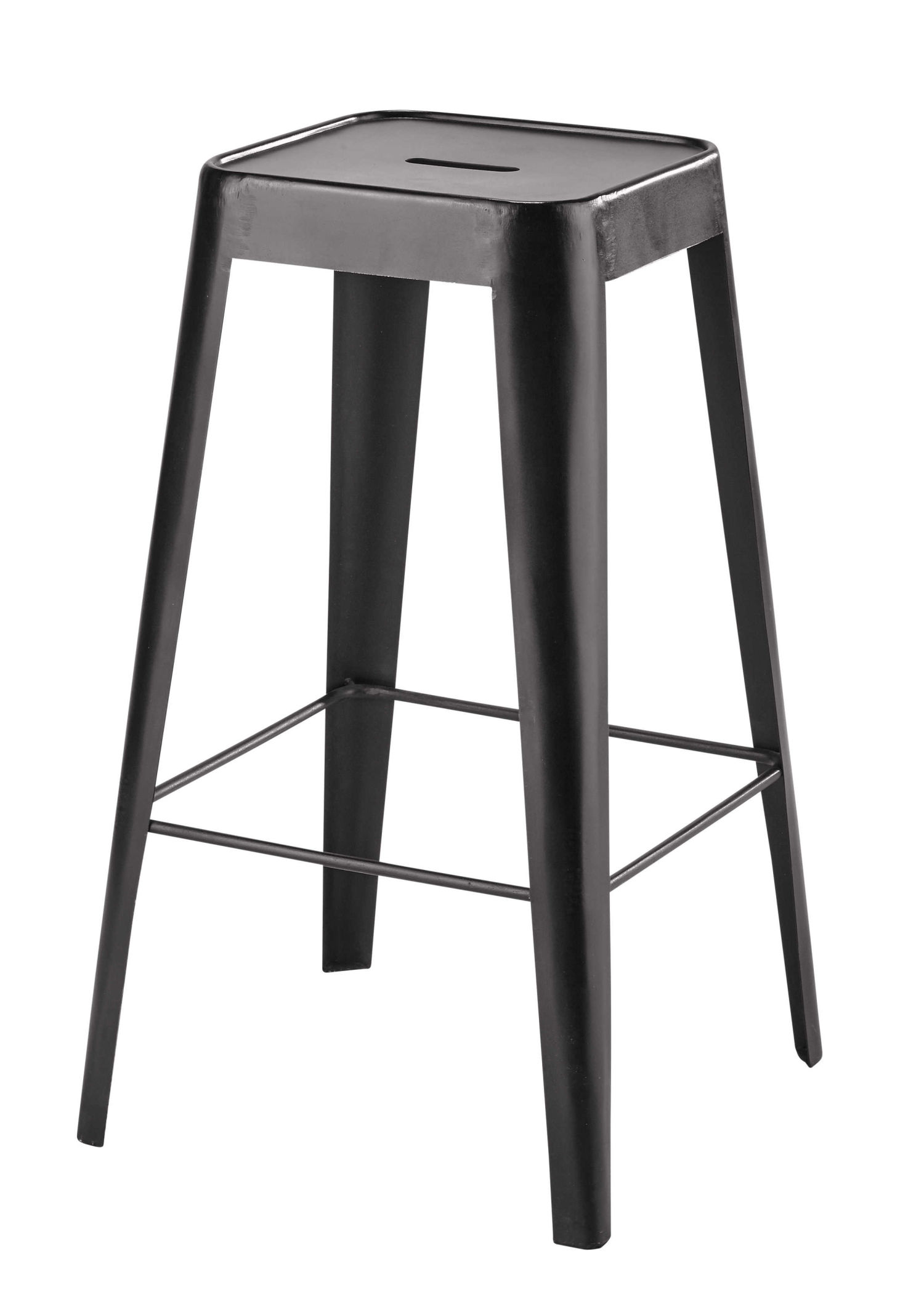 metal bar stool in black maisons du monde. Black Bedroom Furniture Sets. Home Design Ideas