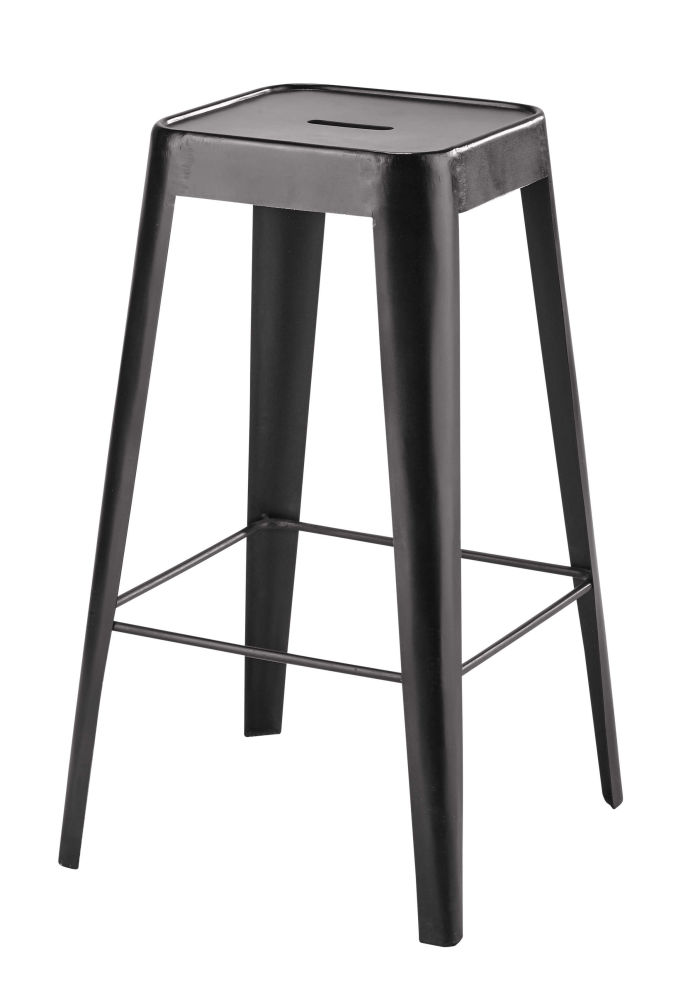 metal bar stool in black maisons du monde