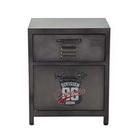 Metal bedside table with drawer W 44cm Andrews