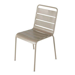 Metal garden chair in taupe