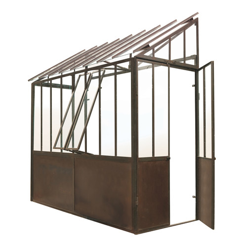 metal half greenhouse in rust finish h 245cm tuileries maisons du monde. Black Bedroom Furniture Sets. Home Design Ideas