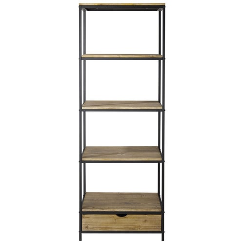 metal industrial shelf unit w 70cm long island maisons du monde. Black Bedroom Furniture Sets. Home Design Ideas
