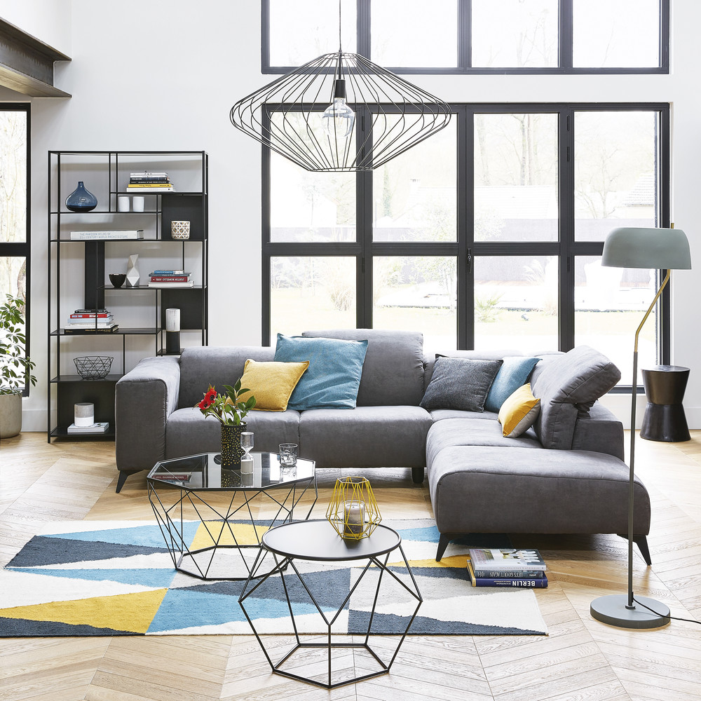 Metal Round Coffee Table in Black | Maisons du Monde