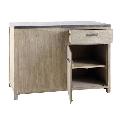 meuble bas de cuisine en bois recycl l 120 cm copenhague maisons du monde. Black Bedroom Furniture Sets. Home Design Ideas