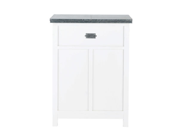 Meuble de bar blanc mat L 80 cm Sorgues