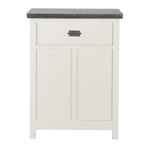 meuble de bar blanc mat l 80 cm sorgues maisons du monde. Black Bedroom Furniture Sets. Home Design Ideas