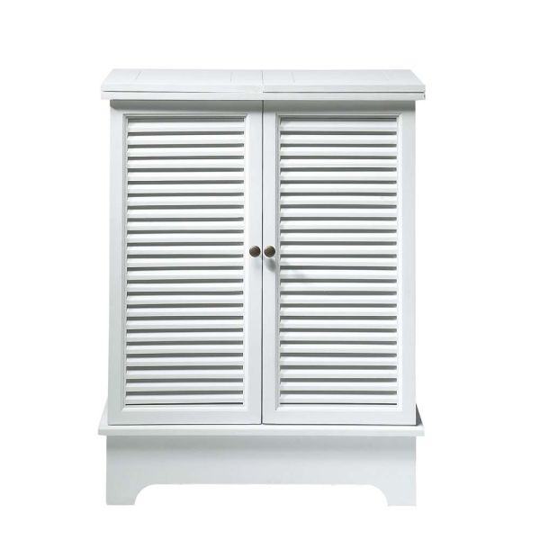 Meuble de bar en bois blanc L 80 cm Barbade (photo)